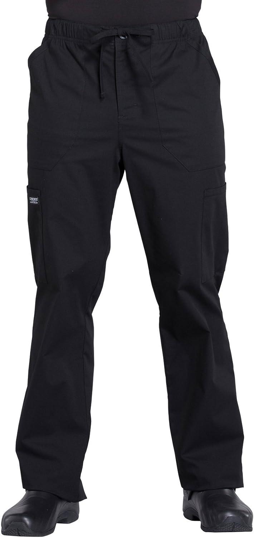 CHEROKEE WW Professionals Men's Tapered Leg Drawstring Cargo Scrub Pant WW190: Clothing