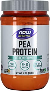 NOW Sports Nutrition, Pea Protein 24 G, Easily Digested, Unflavored Powder, 12-Ounce