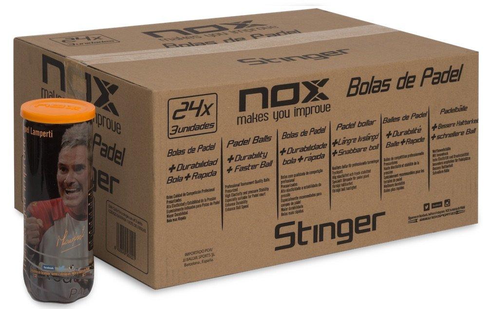 NOX 24Bolstin3 Cajón de Bolas de pádel, Unisex Adulto, Amarillo, Talla Única: Amazon.es: Deportes y aire libre