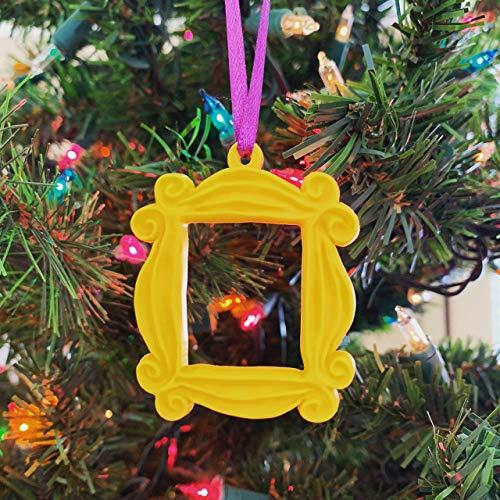 Friends TV Show Merchandise/Friends Frame Christmas Ornament/Monica Peephole Frame/Yellow Friends Frame/TV Show Gift (Christmas Tv Ornaments Shows)