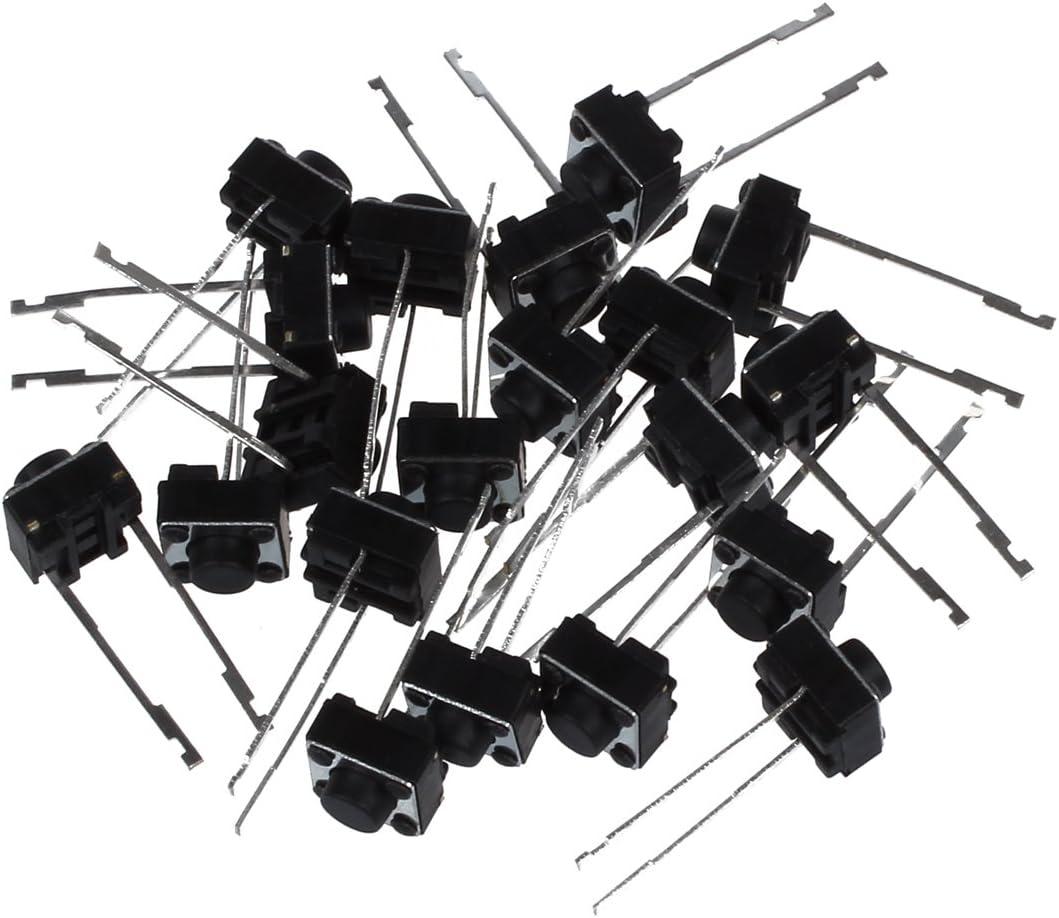 Cikuso 20 pieces 6 x 6 x 5 mm Tact Switch Momentane Interrupteur bouton-poussoir Tactile 2 broches DIP Trou traversant