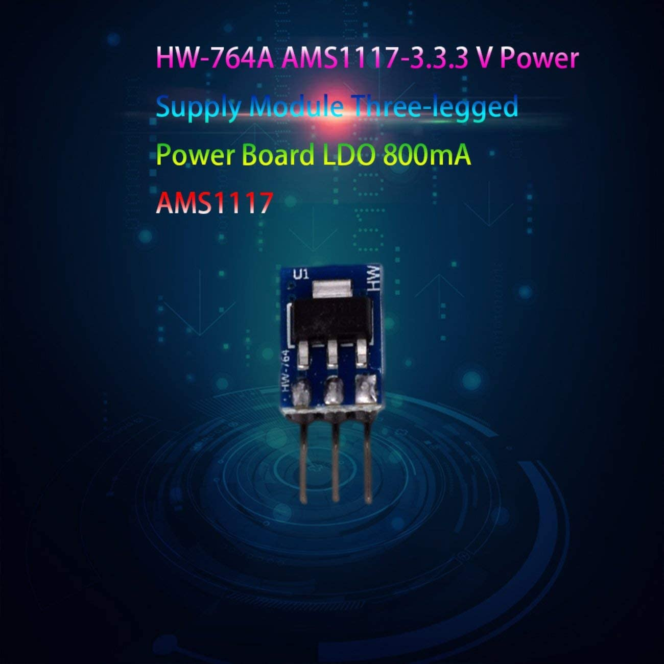 blau FYstar AMS1117-3.3 3,3-V-Leistungsmodul 3-polige Leistungsplatine LDO 800ma AMS1117