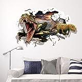 GenialES 3D Pegatina de pared Dinosaurios Vinilo Decorativo Adhesivo PVC para Infantiles Dormitorio 60X90cm D