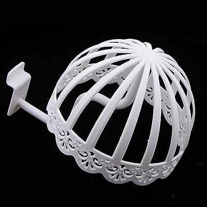 Baoblaze White Plastic Stable Detachable Hat Wig Display Stand Holder Cap Storage Shelf for Baby 40cm