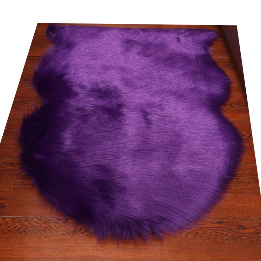 3 Round Nursery HUAHOO Faux Fur Sheepskin Rug Ivory White Kids Carpet Soft Faux Sheepskin Chair Cover Home D/écor Accent for a Kids Room,Childrens Bedroom Living Room or Bath