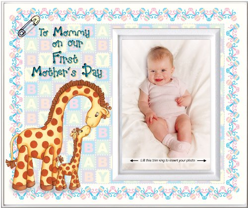 First Mother's Day Picture Frame Gift | Holds 3.5