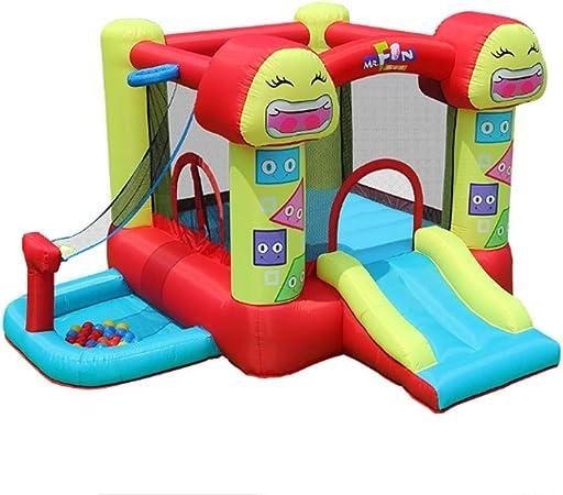 AJH Childrens Fun Outdoor Bouncy Castle, Fence Bouncy Castle ...
