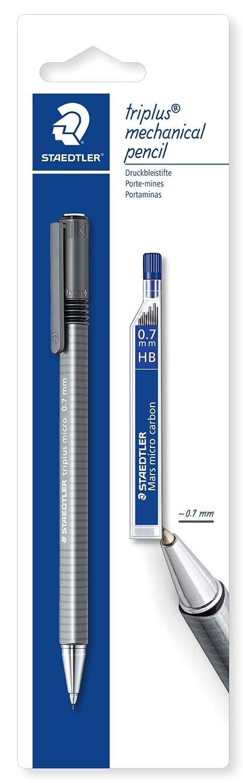 Staedtler 77427BK25D triplus micro Druckbleistift 0.7 mm und Feinminen auf Blisterkarte