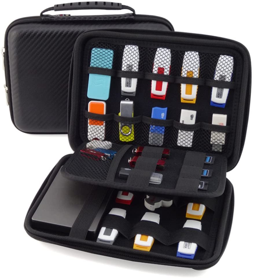 GUANHE Organizador de carcasa rígida de accesorios de electrónica – Funda impermeable para Power Bank/USB/Disco duro: Amazon.es: Electrónica
