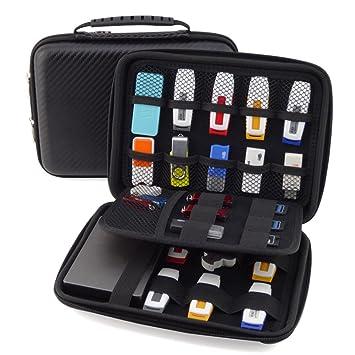 homeself Organizador de carcasa rígida de accesorios de electrónica – Funda impermeable para Power Bank/USB/Disco duro