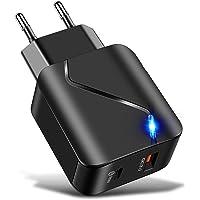 Decdeal 18W PD USB Hızlı şarj Adaptörü 2 Bağlantı Noktası Hızlı Şarj Seyahat şarj cihazları i-Phone Hu-aw-ei için Yedek