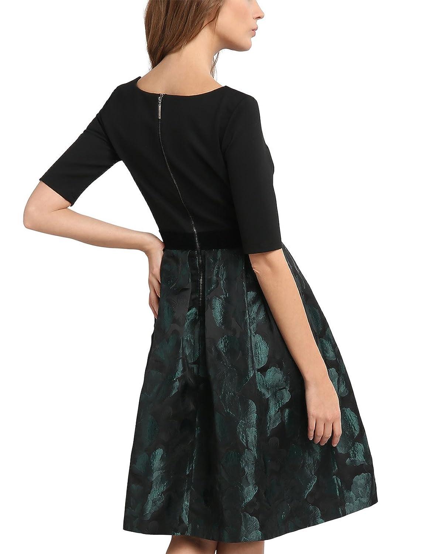 APART Fashion Damen Kleid 53039, Grün (Smaragd), 42: Amazon.de: Bekleidung
