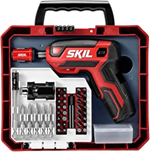 Skil Rechargeable 4V Cordless Pistol Grip Screwdriver with 42pcs Bit Set, USB Charger and Carrying Case - SD5618-03