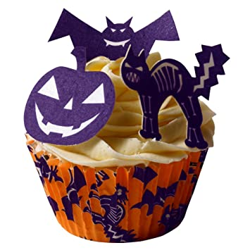 12 scary halloween edible cake decorations halloween cake cases