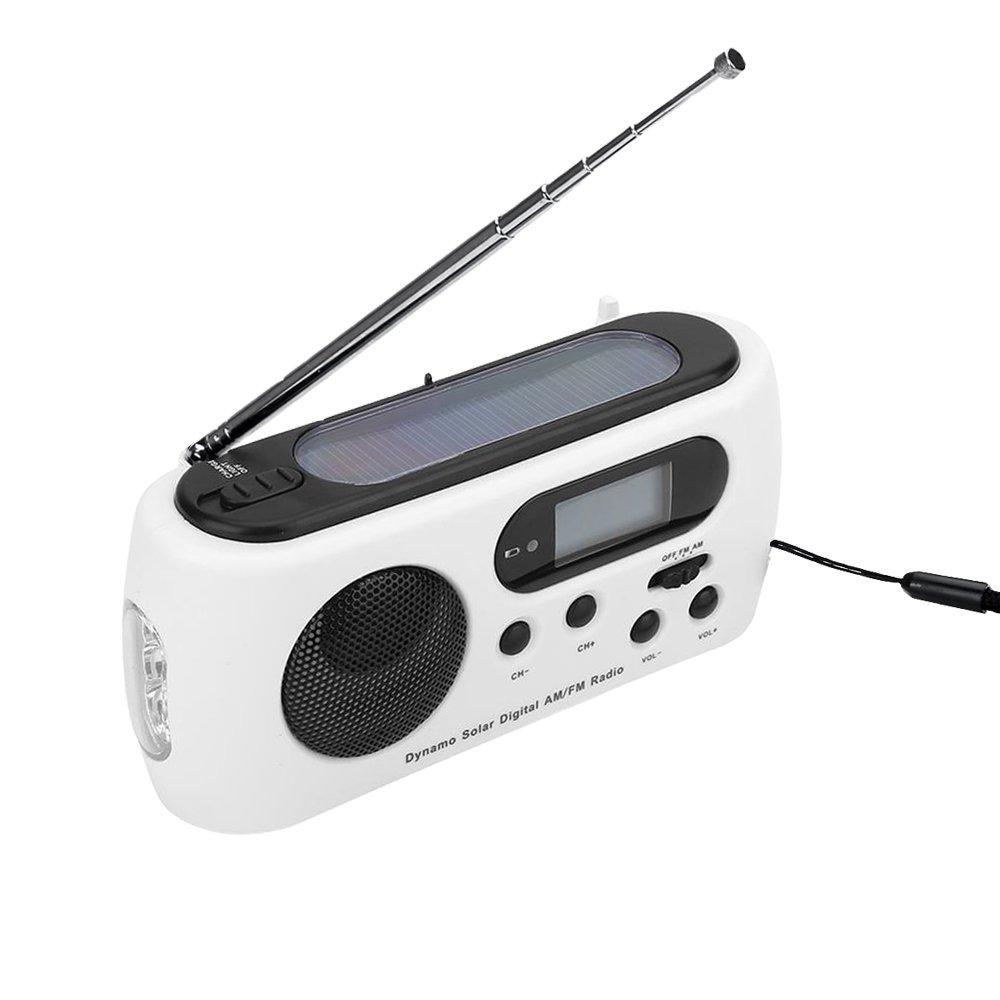 tiemahun Solar manivela Dinamo Radio 3-LED Linterna USB ...