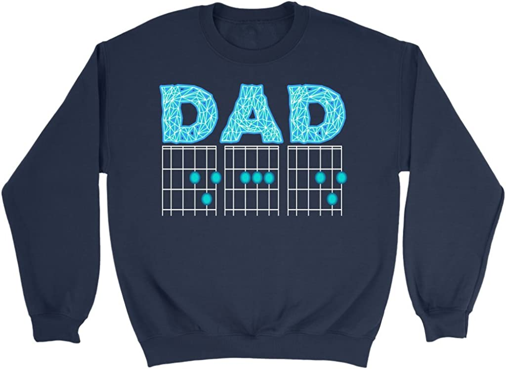 NeatFind.net Dad Guitar Chord Cool Funny Awesome Guitarist Unisex Crewneck Sweatshirt