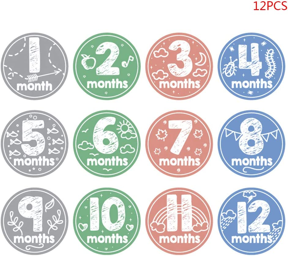 12 Teile//los Baby Monat Kleinkind Fotografie Prop Meilenstein Memorial Monatlich geboren Kid Supplies VIccoo Aufkleber