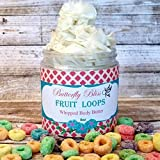 Fruit Loops Whipped Body Butter, natural lotion, organic, 8oz jar, made with shea butter, mango butter, coconut oil, almond oil
