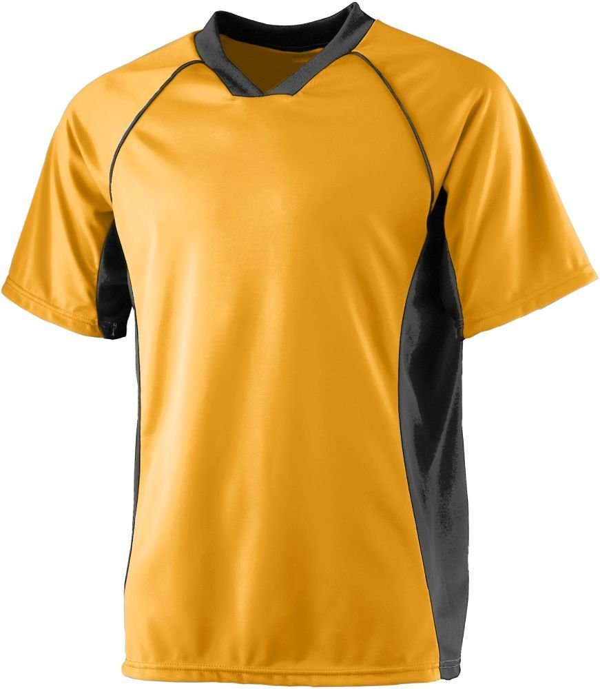 Augusta SportswearメンズWickingサッカーシャツ B008KCV92S Large ゴールド/ブラック ゴールド/ブラック Large