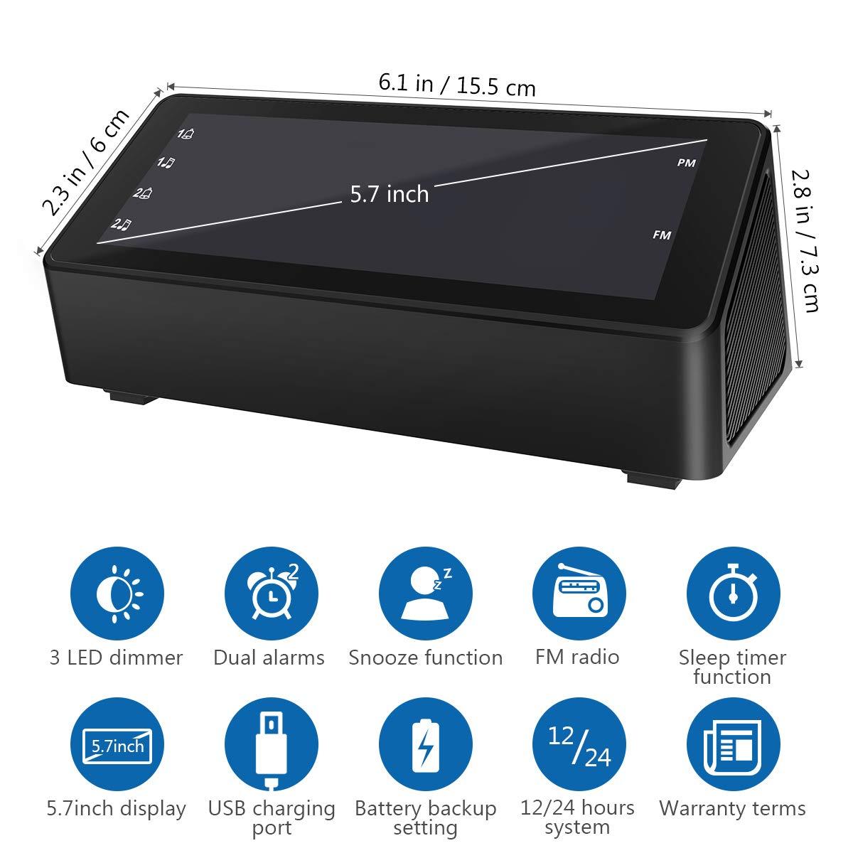 Alarm Clocks Home & Garden Store Foxnovo Digital Alarm Clock for ...