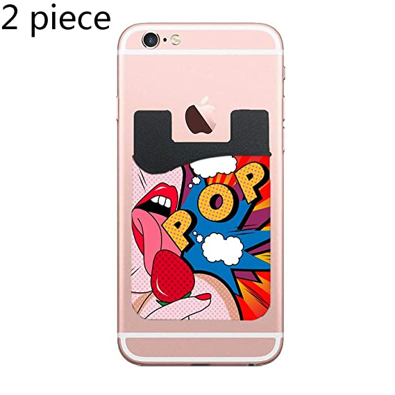 b6cf29f68 Phone Card Holder Adhesive Stick-on Credit Card Wallet Phone Case Pouch  Sleeve Pocket for