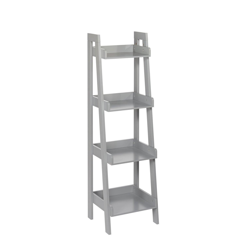 RiverRidge 4-Tier Ladder Shelf for Kids, White 02-070