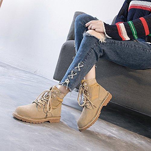 KHSKX-Der Fall Martin Alles Passen Schuhe Stiefel Weibliche Britische Wind Herbst Winter Und Frühjahr Dicksohlige Schuhe. Thirty-six