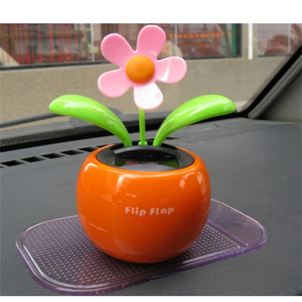 8e5309e1face80 Catuo Sunflower Toys Solar Powered Dancing Flower Flip Flap Apple Car  Display  Amazon.co.uk  Car   Motorbike