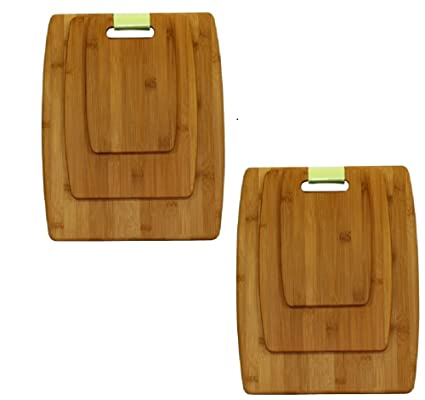 Amazoncom Oceanstar 3 Piece Bamboo Cutting Board Set Cb1156 Pack