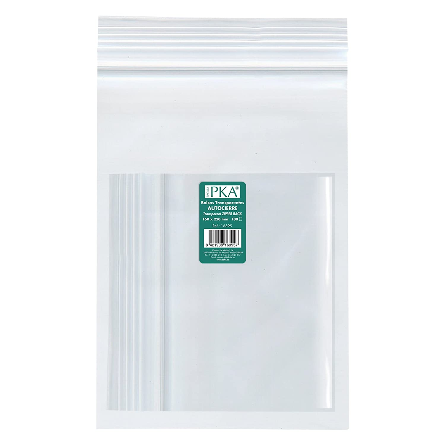 Amazon.com : PKA 16397 - Pack of 100 Re-sealable Plastic ...