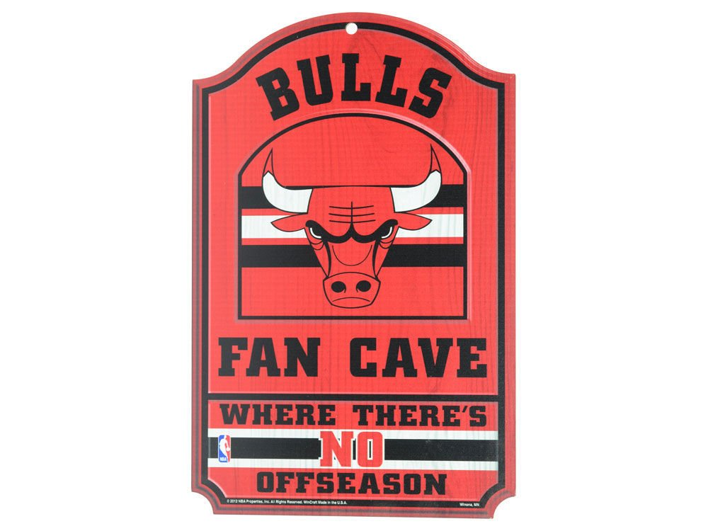 WinCraft NBA Chicago Bulls 38306012 Wood Sign, 11'' x 17'', Black