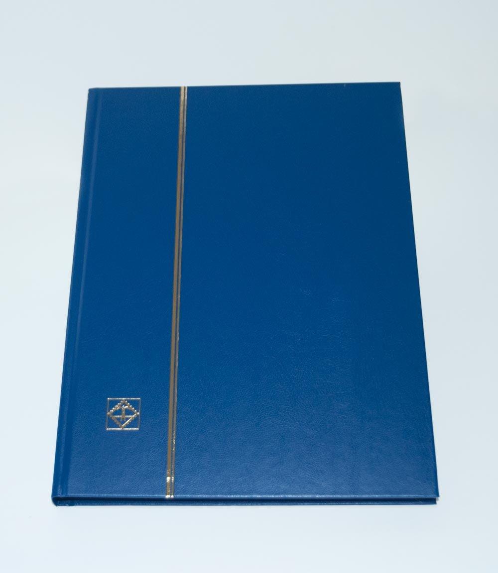 Leuchtturm 337308 Classeur A4 de 32pages noires, Couverture non matelassée, Bleu