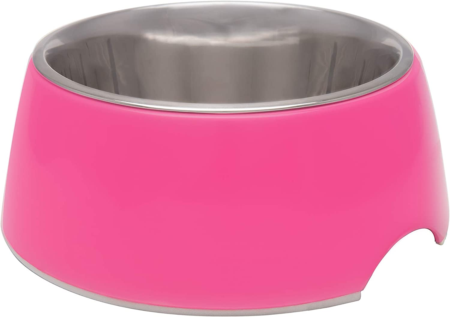 Loving Pets Retro Bowl for Dogs, Hot Pink, Medium (7132)