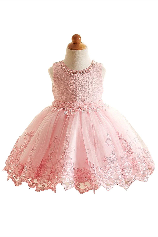 Vestido de niña estilo princesa trapecio A line vestido elegante ...