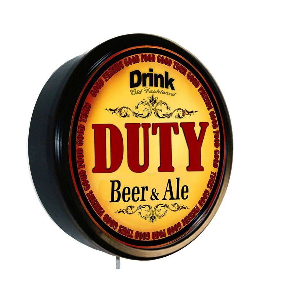 DUTY Beer and Ale Cerveza Lighted Wall Sign