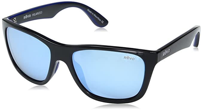 b83541ebb8 Amazon.com  Revo Otis RE 1001 01 BL Sunglasses Black Blue Water 57 ...