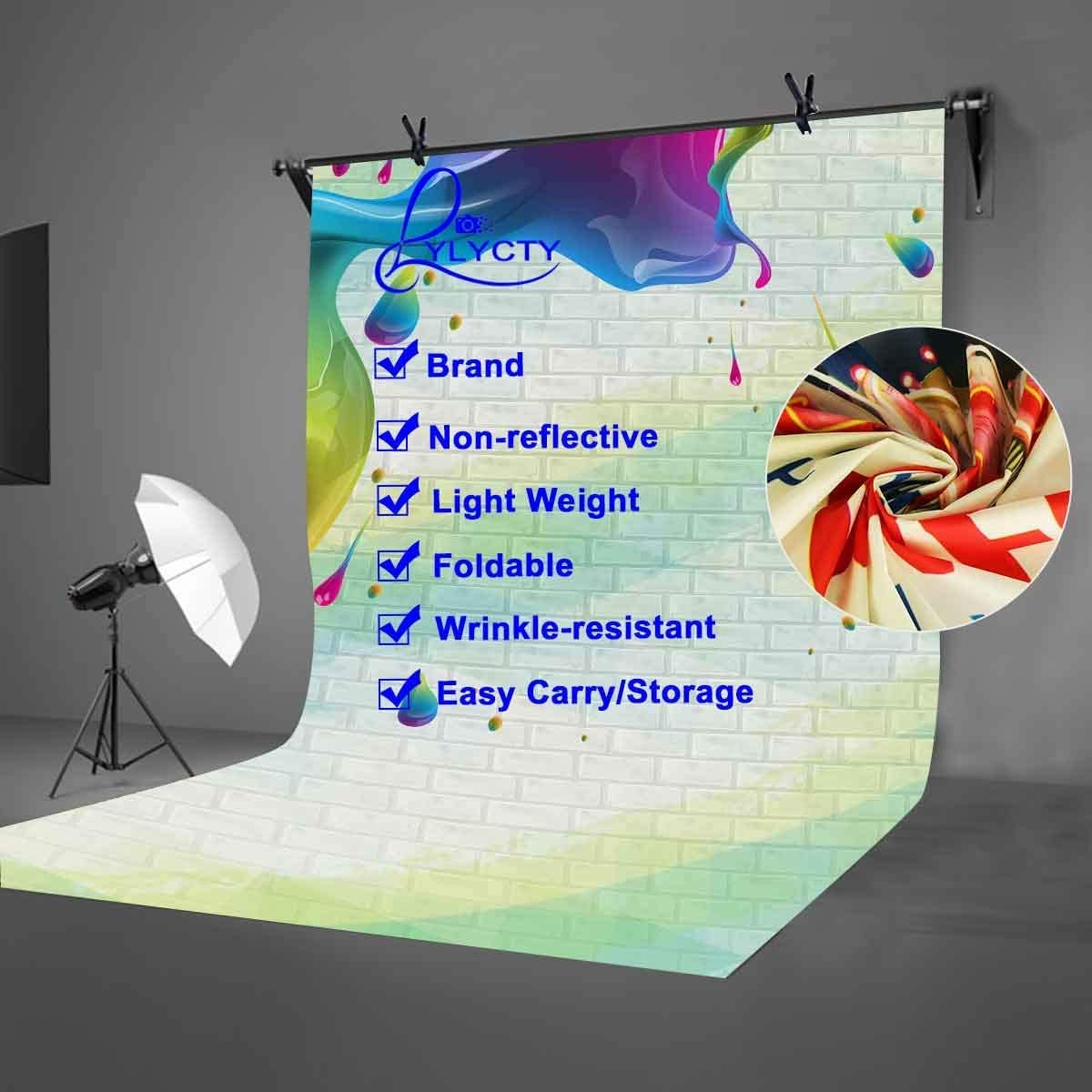 CdHBH 5x7ft Brick Wall Backdrop Colorful Paints Pour Down Photography Backdrop Art Studio Photography Background Props Studio Display Mural LYLF002