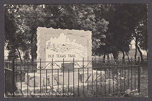 Pine Bluffs Wy >> Old Texas Trail Monument At Pine Bluffs Wy Rppc Postcard