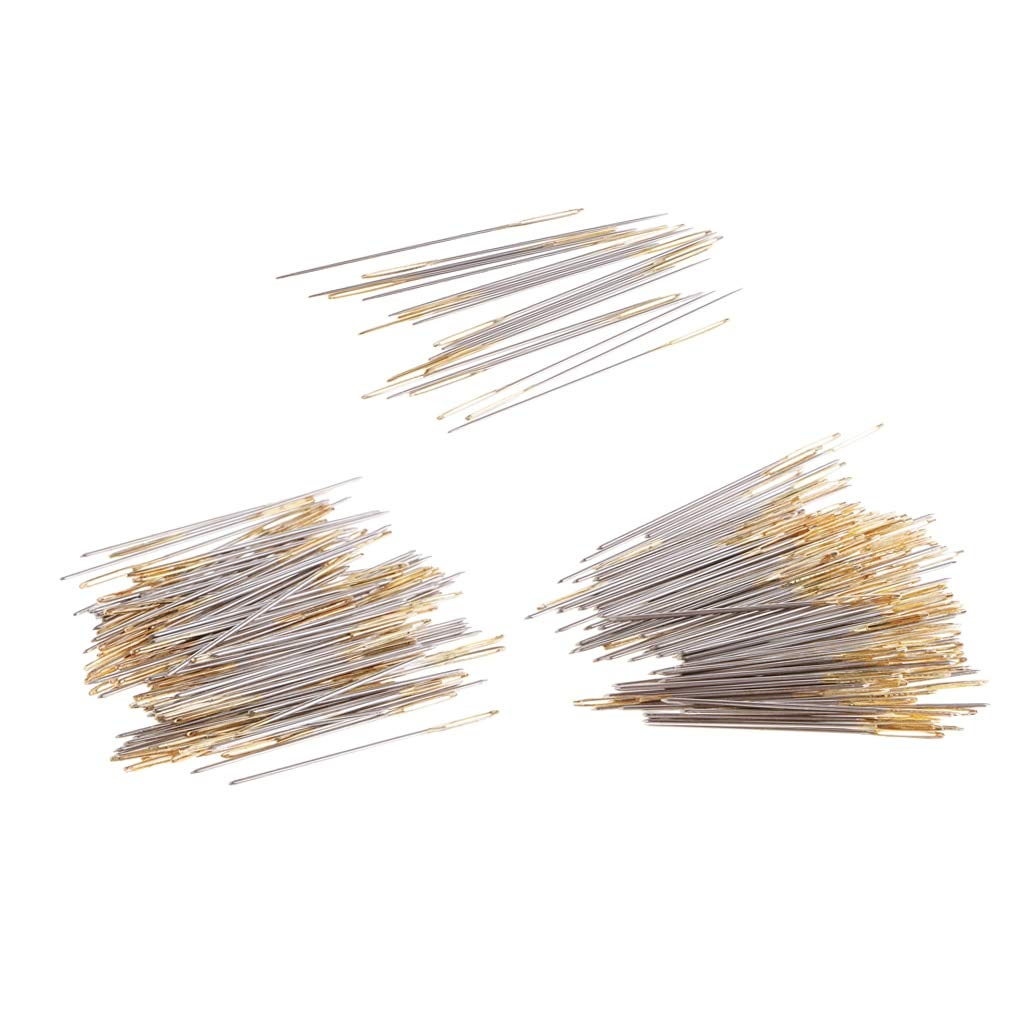 Sewing Needles - 220pcs Metal Large Eye Hand Sewing Needles Embroidery Fabric Stitch Needle DIY Sewing Craft Accessories 24# 26# 28# in Clear Box by Sewing Needles