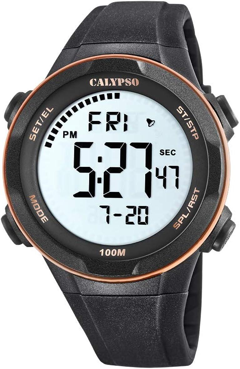 Calypso Watches Reloj Digital para Hombre de Cuarzo con Correa en Plástico K5780/6