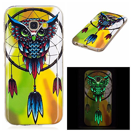 lovely JuSha for Samsung Galaxy A3 2017 A320 Case TPU Soft Silicone Skin Gel Cover Case (Owl )