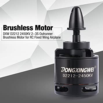 DXW D2212 2450KV 2-3S Outrunner motor sin escobillas para RC FPV ala fija avión avión abejón Multicopter 6040 hélice (Color: dorado): Amazon.es: Coche y ...