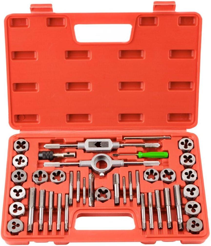 M3-M12 Für Gewindeschneider Satz 40pc Fein Gewinde Bohrer Schneider Werkzeug Set