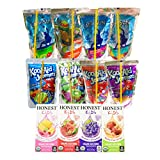 Healthy and Favorite Drinks for Kids Lunch Box, After School (12 Count) Variety Pack with Juices: Capri Sun, Honest Kids, and Kool Aid Jammers
