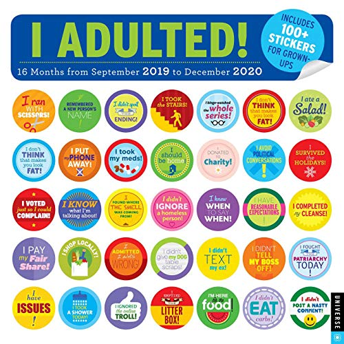 Calendario 2020 16.I Adulted 2019 2020 16 Month Wall Calendar Stickers For Grown Ups
