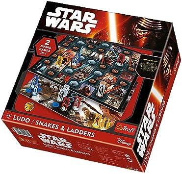 TREFL 01378 Star Wars - Juego de Mesa de Ludo/Serpiente y escaleras: Amazon.es: Juguetes y juegos