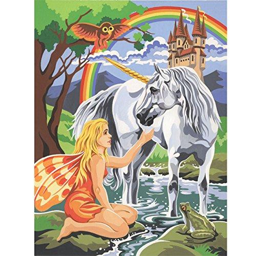 Junior Paint By Number Set Unicorn