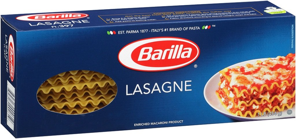 Barilla Pasta, Wavy Lasagne, 16 Ounce (Pack of 12)