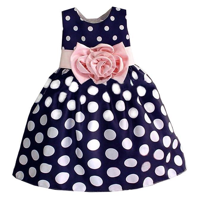 Qiufeng - Vestido - para niña azul cobalto 2 años