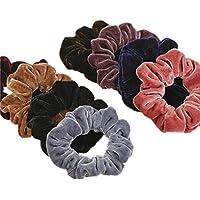 Lot de 8grands chouchous à cheveux Cuhair™ avec élastique métallique pour femmes et filles - Pour coiffure en queue de cheval
